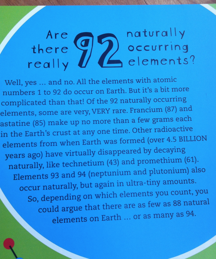 Are there really only, '92 naturally occurring elements'?