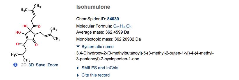 Chemspider - Isohumulone