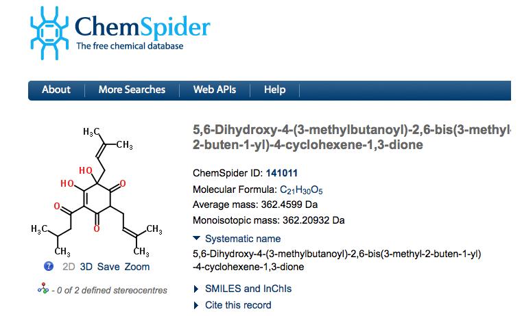 Chemspider - Humulone