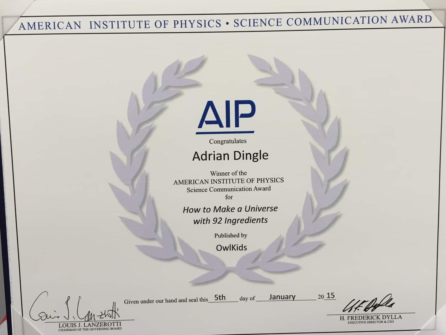 AIP Certificate