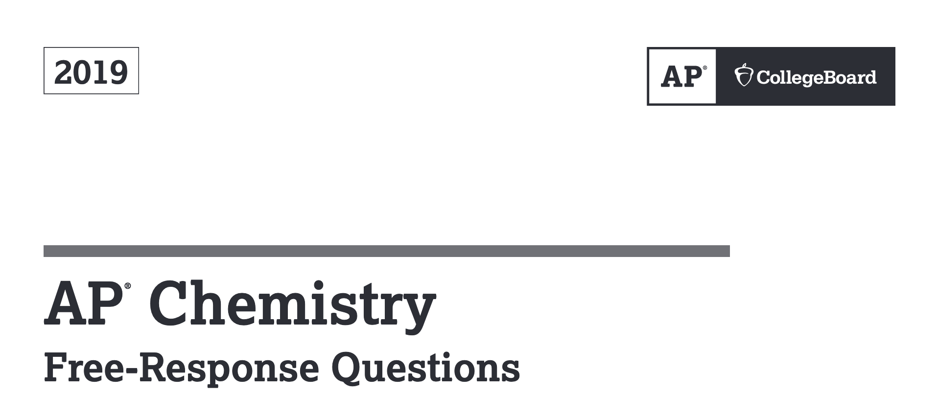 2019 AP Chemistry Released FRQ answers - Adrian Dingle's Chemistry Pages